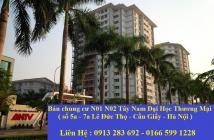 Cần bán căn hộ chung cư N01 tây nam đại học thương mại . Diện tích từ 55 đến 93m2.  Thoải mái chọn căn chọn tầng . Giá từ 22tr/m2