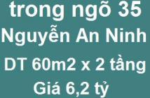 Chính chủ bán nhà ngõ 35 Nguyễn An Ninh, P. Tương Mai, 60m2. Giá 6,2tỷ, LH: 0993392240