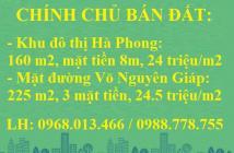 Chính chủ bán đất tại KĐT Hà Phong và MP Võ Nguyên Giáp, chỉ 24 tr/m2, LH: 0988778755