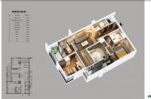 Bán căn hộ 3PN hướng Đông Nam tầng 16 dự án Northern Diamond. LH: 0981 474 793