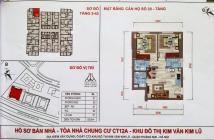 Bán căn hộ 53m2, Đông Nam, Giá 970 triệu tại CT12B Kim Văn Kim Lũ